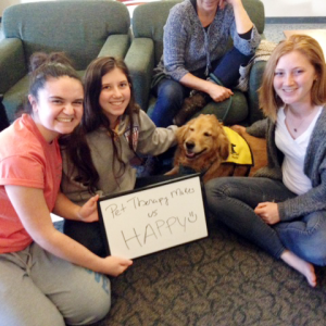 Pet Therapy at Johnson Hall Oswego May 2017
