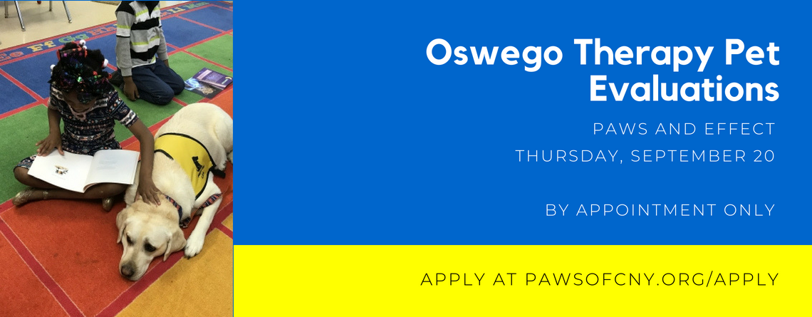 Oswego Therapy Pet Evaluations September 20