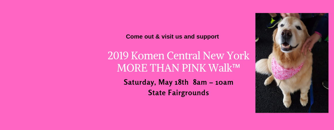 PAWS of CNY to Support Komen CNY MORE THAN PINK Walk