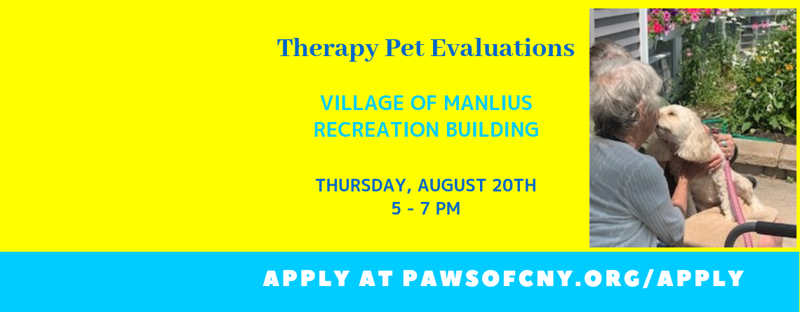 Manlius Therapy Pet Evaluations